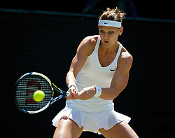 03.07.2014, All England Lawn Tennis Club, London, ENG, WTA Tour, Wimbledon, Tag 10, im Bild Lucie Safarova (CZE) during the Ladies' Singles Semi-Final match on day ten // during day 10 of the Wimbledon Championships at the All England Lawn Tennis Club in London, Great Britain on 2014/07/03. EXPA Pictures &copy; 2014, PhotoCredit: EXPA/ Propagandaphoto/ David Rawcliffe<br /> <br /> *****ATTENTION - OUT of ENG, GBR*****