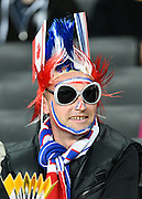 A French fan before the Rugby World Cup 2015 Pool D match (22) between France and Canada at Stadium MK, Milton Keynes, England on 1 October 2015. Photo by David Charbit.