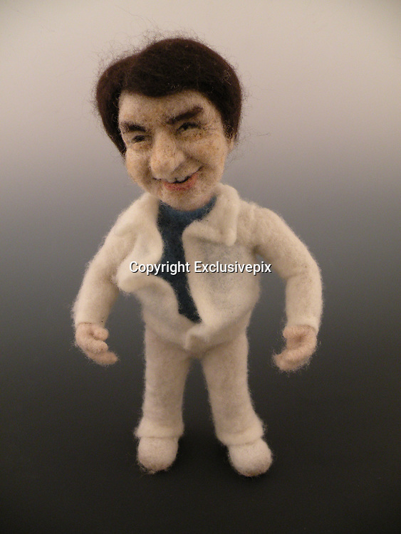 USA - 17/-8/2010 - Celebrity Sculptural needle felting by Kay Petal from Alaska has been creating amazing creations since 2007.all these creations are made by a single needle and wool.<br /> Photo Shows: Jackie Chan<br /> (&copy;Kay Petal/Exclusivepix)