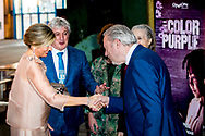 AMSTERDAM - Queen Maxima attends the premiere of the musical The Color Purple in the NDSM warehouse. The musical is based on Alice Walker's book that won the Pullitzer Price in 1983 copyright robin utrecht