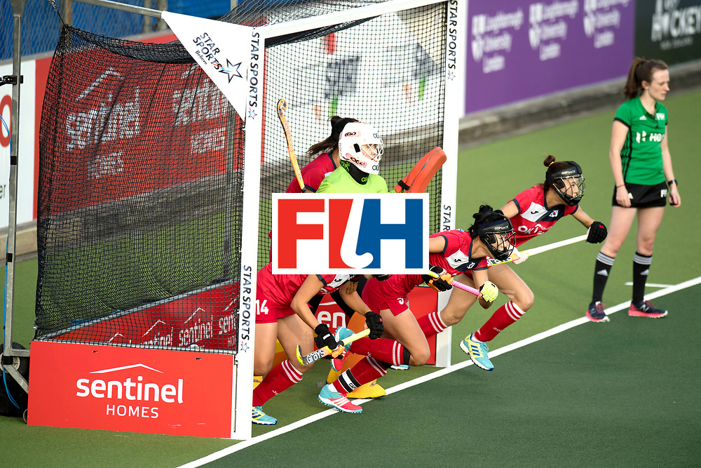 AUCKLAND - Sentinel Hockey World League final women<br /> Match id 10291<br /> USA v KOR (Pool A)<br /> Foto:  Penalty corner defending.<br /> WORLDSPORTPICS COPYRIGHT FRANK UIJLENBROEK