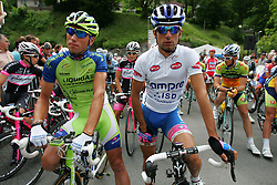Koren Kristjan (SLO) of Liquigas and Ulissi Diego (ITA) of Lampre during 3nd Stage (170,6 km) at 18th Tour de Slovenie 2011, on June 18, 2011, in Slovenia. (Photo by Urban Urbanc / Sportida)