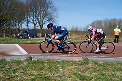 Mieke Kröger (GER) leads the break at Healthy Ageing Tour 2018 - Stage 3a, a 66.2 km road race starting and finishing in Winschoten on April 6, 2018. Photo by Sean Robinson/Velofocus.com