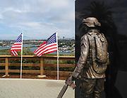 Field of Honor Memorial Overlooks Newport Beach
