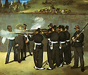 Archduke Ferdinand Maximilian von Habsburg (1832-1867) Brother of Emperor Franz Josef of Austria-Hungary. Emperor of Mexico 1862-1867    Execution of Maximilian   painting by the French artist Edouard Manet