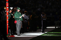 Green Bay Packers head coach Mike McCarthy stands on the sidelines during the Green Bay Packers against the Dallas Cowboys  NFL game in Dallas, Texas Sunday, December, 15, 2013. (AP Photo/Tom Hauck)