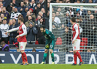 Football - 2017 / 2018 Premier League - Tottenham Hotspur vs. Arsenal<br /> <br /> Petr Cech (Arsenal FC) shouts instructions to his wall at Wembley Stadium.<br /> <br /> COLORSPORT/DANIEL BEARHAM