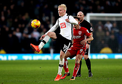 Will Hughes of Derby County passes the ball - Mandatory by-line: Robbie Stephenson/JMP - 11/02/2017 - FOOTBALL - iPro Stadium - Derby, England - Derby County v Bristol City - Sky Bet Championship
