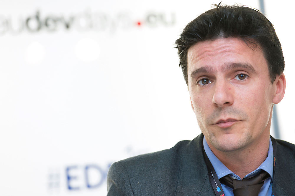 03 June 2015 - Belgium - Brussels - European Development Days - EDD - Health - Refugees and internally displaced persons - Right to health , right to life - Benjamin Charlier<br /> Operations Advisor, International Committee of the Red Cross (ICRC) &copy; European Union