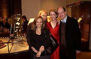 Luke and  Lisa Johnson with  Alain and Charlotte de Botton with Lisa Johnson. Book party for LAST VOYAGE OF THE VALENTINA by Santa Montefiore (Hodder & Stoughton) Asprey,  New Bond St. 12 April 2005. ONE TIME USE ONLY - DO NOT ARCHIVE  © Copyright Photograph by Dafydd Jones 66 Stockwell Park Rd. London SW9 0DA Tel 020 7733 0108 www.dafjones.com