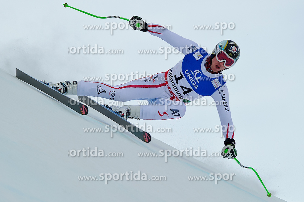 07.02.2013, Planai, Schladming, AUT, FIS Weltmeisterschaften Ski Alpin, Abfahrt, Herren, 1. Training, im Bild Hannes Reichelt (AUT) // Hannes Reichelt of Austria in action during 1st practice of Mens Downhill at the FIS Ski World Championships 2013 at the Planai Course, Schladming, Austria on 2013/02/07. EXPA Pictures © 2013, PhotoCredit: EXPA/ Sandro Zangrando
