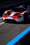 June 10-16, 2019: 24 hours of Le Mans. 67 FORD CHIP GANASSI TEAM UK, FORD GT, Jonathan BOMARITO,  Harry TINCKNELL, Andy PRIAULX , morning warmup