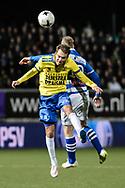 Voetbal Leeuwarden Eredivisie 2014-2015 SC Cambuur - PEC Zwolle: L-R Sander van de Streek van SC Cambuur Leeuwarden