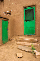 Green Doors, Taos Pueblo, New Mexico