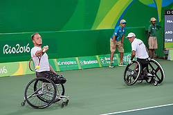 Stephan Houdet, Nicolas Piefer, FRA, Tennis Doubles at Rio 2016 Paralympic Games, Brazil