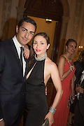 Prince Edouard de Ligne de la Tremoille; Princesse Isabella sabella Orsini de Ligne de la Tremoille;, Dinner for Sonia Falcone to celebrate her participation in 56th Venice Biennale she represented Bolivia at the Pavilion of the Instituto Italo-Latinoamericano at the Arsenale. Dinner at the Ridotto Ballroom, Hotel Monaco and Grand Canal, Venice, Venice Biennale, Venice. 8 May 2015