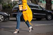 Tamara Kalinic in Versus Versace at Julien Macdonald FW2017 - details 1