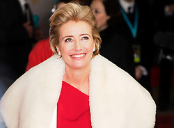 Emma Thompson as she arrives at the BAFTA Film Awards. London, United Kingdom. Sunday, 16th February 2014. Picture by Max Nash / i-Images
