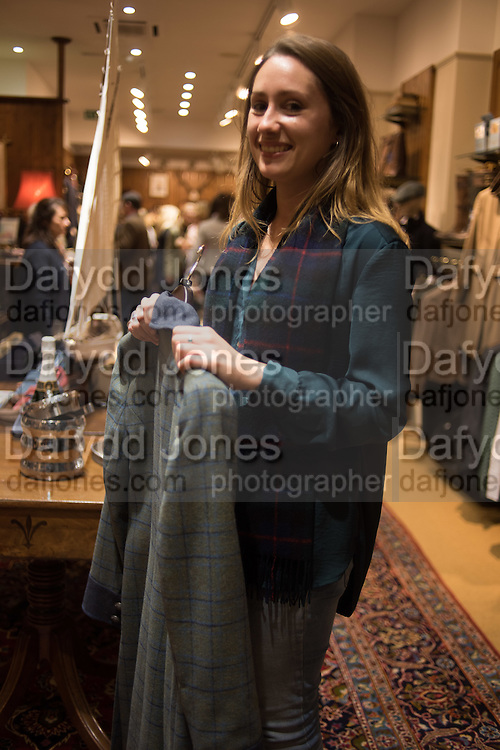 AMY MAUNDER-TAYLOR, Tatler and Dubarry host an evening with Clare Balding, Dubarry of Ireland, 34 Duke of York's Sq. London. 13 October 2016.
