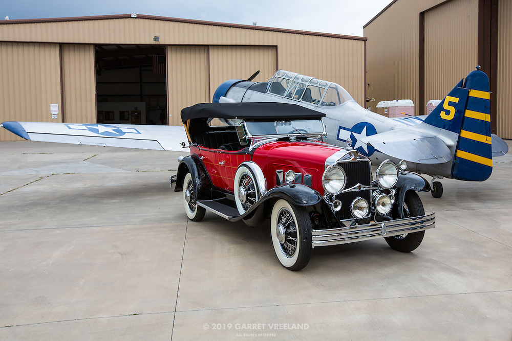 1930 Willys-Knight Phaeton and AT-6 Texan.