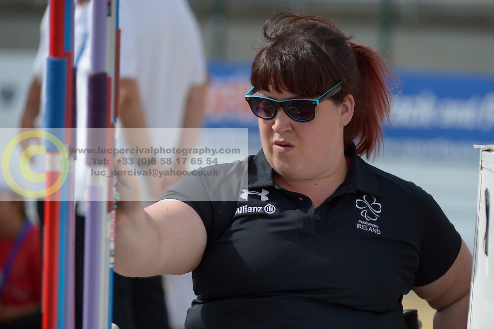 16 / 06 / 2016,  Lorraine Regan (Kilcormac, Co. Offaly), F56 class, Paralympics Ireland athletics pictured competing at the 2016 IPC Athletics European Championships in Grosseto, Italy