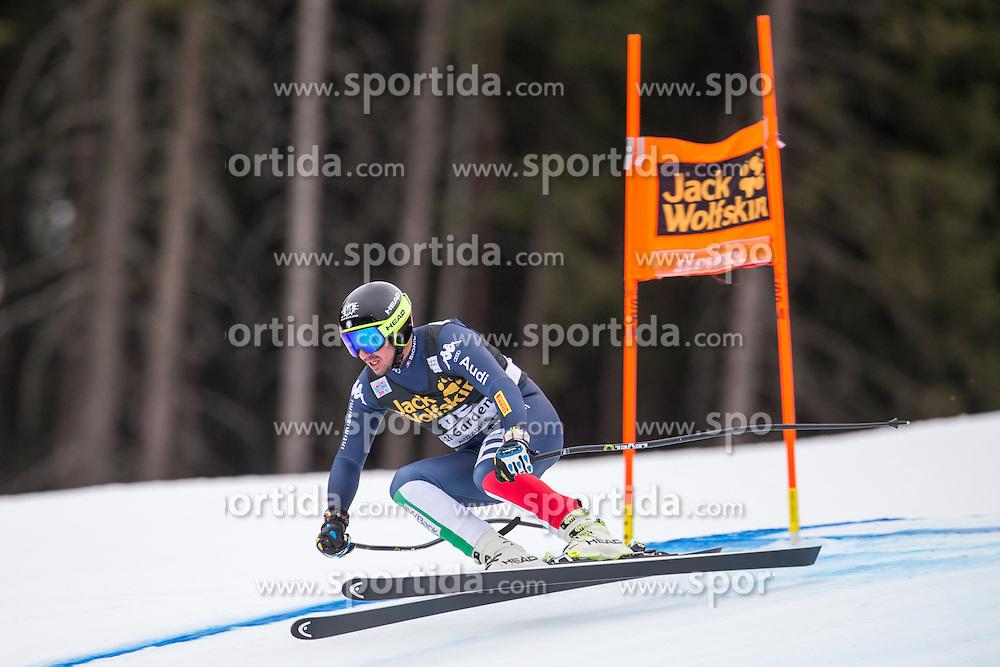 16.12.2015, Saslong, Groeden, ITA, FIS Ski Weltcup, Herren, Abfahrt, 1. Training, im Bild Silvano Varettoni (ITA) // Silvano Varettoni of Italy in action 1st downhill practice of the Groeden FIS Ski Alpine World Cup at the Saslong Course in Gardena, Italy on 2015/12/16. EXPA Pictures © 2015, PhotoCredit: EXPA/ Johann Groder