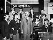 09/01/1981.01/09/1981.9th January 1981.The Aer Lingus Young Scientist of the Year Award at the RDS, Dublin ..L-R (front) Richard Gallagher, John O'Connell (both Rockwell College, Tipperary), John Wilson T.D., Minister for Education, Erina Galvin (Vocational School, Kerry) and Oisin Hurley (Rockwell College, Tipperary) .(back) John Lynch, Seamus Hayes (both Colaiste Criost Ri, Cork), Caroline Beamish (Ursuline Convent, Waterford) and Paul Kelly (St Munchin's College Limerick).