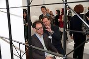 BEN LEWIS; David Shrigley, Stephen Friedman Gallery , opening of the 2010 Frieze art fair. Regent's Park. London. 13 October 2010. -DO NOT ARCHIVE-© Copyright Photograph by Dafydd Jones. 248 Clapham Rd. London SW9 0PZ. Tel 0207 820 0771. www.dafjones.com.