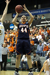 19 March 2010: Rachael Kutney. The Flying Dutch of Hope College defeat the Yellowjackets of the University of Rochester in the semi-final round of the Division 3 Women's Basketball Championship by a score of 86-75 at the Shirk Center at Illinois Wesleyan in Bloomington Illinois.