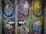 The tribes of Israel on a door of a synagogue, Jerusalem, Israel,