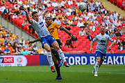 Tranmere Rovers midfielder Kieron Morris (19) and Newport County midfielder Joss Labadie (4) during the EFL Sky Bet League 2 Play Off Final match between Newport County and Tranmere Rovers at Wembley Stadium, London, England on 25 May 2019.