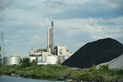 Coal outside the DTE coal plant in Detroit.