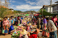 a general view of the local kalaw market, myanmar