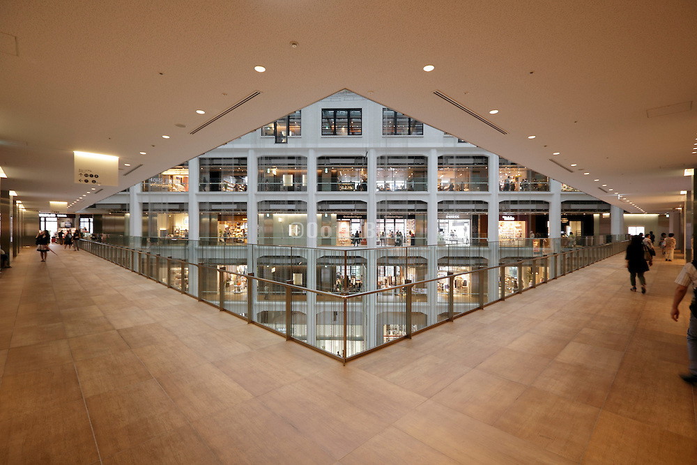inside the renovated Kitte, The former Central Post Office building by Tokyo Station
