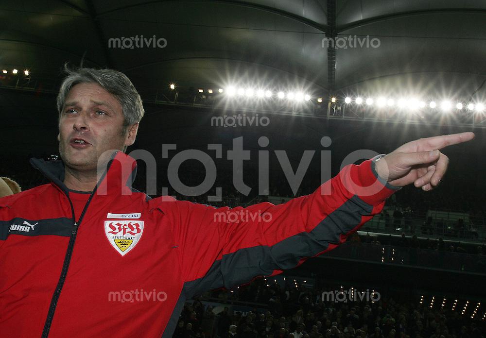 Fussball  1. Bundesliga  Saison 2005/2006  22. Spieltag  VfB Stuttgart - FSV Mainz 05              Armin VEH (Stuttgart) vor Spielbeginn der Partie gegen Mainz 05.