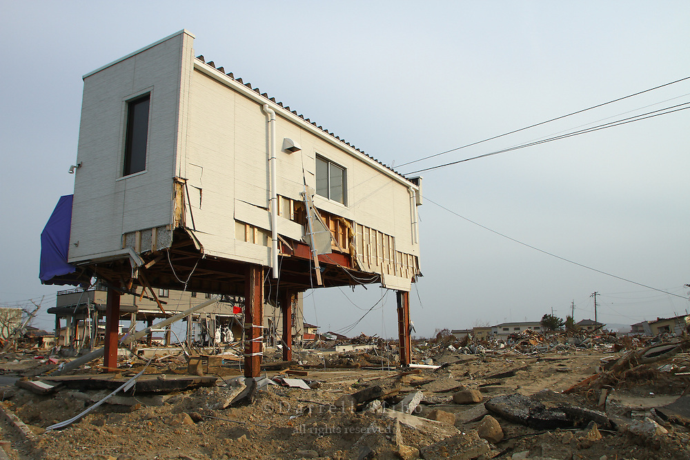 May 16, 2011; , Miyagi Pref., Japan - Damaged homes after the magnitude 9.0 Great East Japan Earthquake and Tsunami that devastated the Tohoku region of Japan on March 11, 2011.