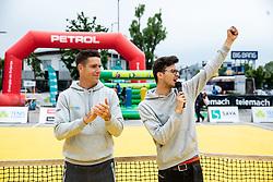 Gregor Krusic, Lovro Presicek, Igrajmo tenis, teniski dogodek za promocijo tenisa med otroki, on May 18, 2019, in BTC, Ljubljana, Slovenia. Photo by Vid Ponikvar / Sportida