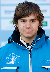 David Grm at Official photo of  Slovenia Ski jumping team for  European Youth Olympic Festival (EYOF) in Liberec (CZE) at official presentation, on February  9, 2011 at Bled Castle, Slovenia. (Photo By Vid Ponikvar / Sportida.com)