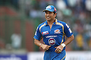 Sachin Tendulkar of Mumbai Indians during match 19 of the Karbonn Smart Champions League T20 between the Perth Scorchers and the Mumbai Indians held at the Feroz Shah Kotla Stadium, Delhi on the 2nd October 2013<br /> <br /> <br /> Photo by Shaun Roy-CLT20-SPORTZPICS <br /> <br /> Use of this image is subject to the terms and conditions as outlined by the CLT20. These terms can be found by following this link:<br /> <br /> http://sportzpics.photoshelter.com/image/I0000NmDchxxGVv4
