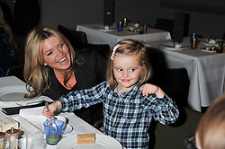 TINA HOBLEY with her daughter OLIVIA PARKER at a children's tea party for the English National Ballet hosted by Mortons Private Members Club, Berkeley Square, London on 20th October 2011.