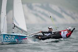 2012 Olympic Games London / Weymouth<br /> 470 Training race<br /> Bithell Stuart, Patience Luke, (GBR, 470 Men)