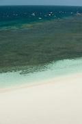 Detail of sand and sea at the beach in Isla Iguana. Los Santos province, Azuero peninsula, Panama, Central America.