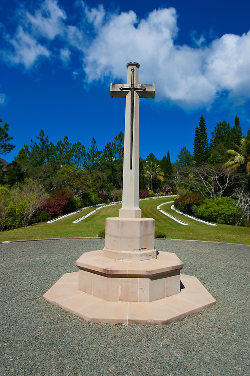 New Zealand war cemetery on the west coast of Grand Terre, New Caledonia, Melanesia, South Pacific