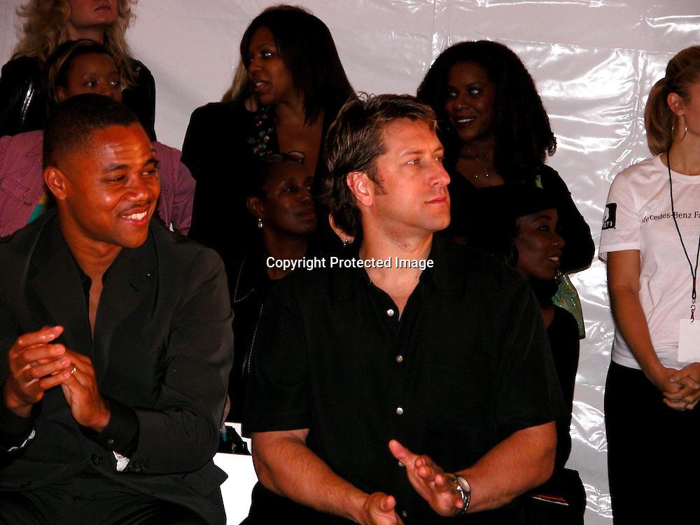 Cuba Gooding Jr.<br />Fusha Fashion Show Front Row &amp; backstage<br />The Bryant Tent, Bryant Park<br />New York City, NY, USA<br />Saturday, September, 13, 2003 <br />Photo By Celebrityvibe.com/Photovibe.com