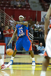 02 December 2006: Rodrick Epps directs his team mates to more useful positions. In a non-conference game, the Mavericks of University of Texas at Arlington lost to the Redbirds home 86-61. The win was the 5th in a row for the Redbirds, the longest winning streak in 6 years. the game was played at Redbird Arena in Normal Illinois on the campus of Illinois State University.<br />