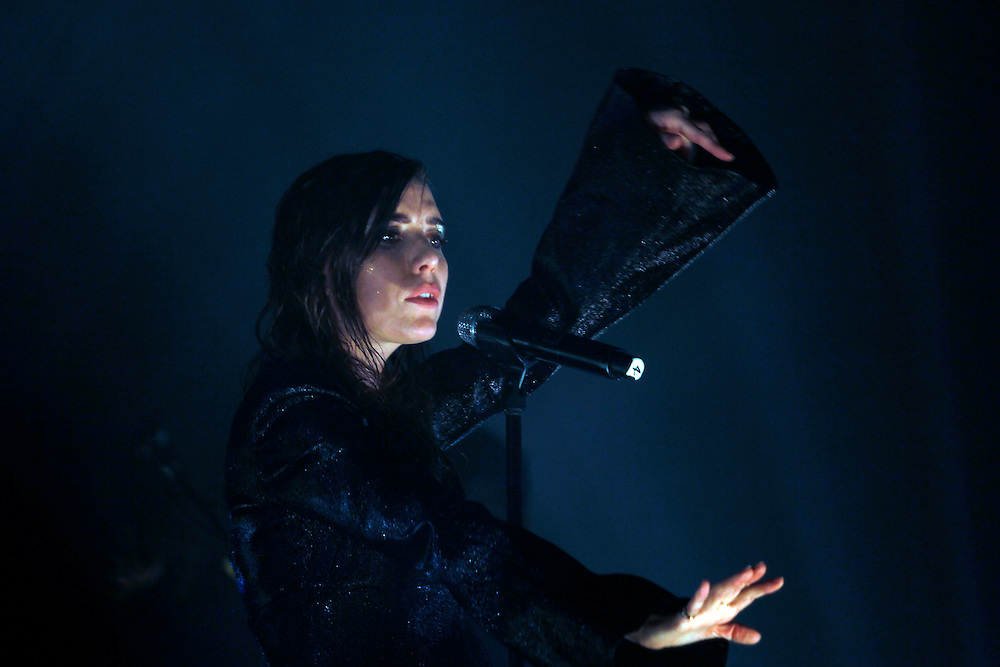 Swedish indie rock artist Lykke Li performs on the Mohave stage at the Coachelle Music Festival on Friday, April 10, 2015.