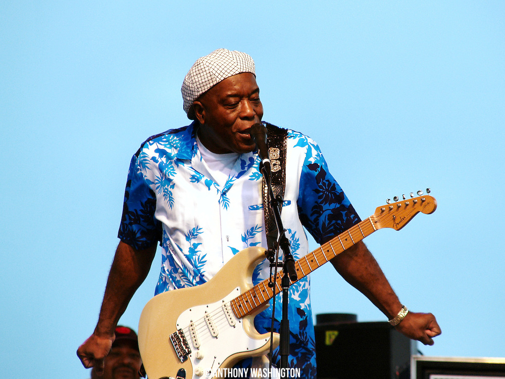 Buddy Guy performs during the Chesapeake Bay Blues Festival at Sandy Point State Park in Annapolis, MD on Sunday, August 5, 2007.