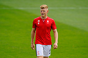 Elliott Whitehouse (4) of Lincoln City warming up before the EFL Sky Bet League 2 match between Exeter City and Lincoln City at St James' Park, Exeter, England on 19 August 2017. Photo by Graham Hunt.