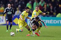 Rachid GHEZZAL / Olivier VEIGNEAU et Lucas DEAUX  - 20.01.2015 - Nantes / Lyon  - Coupe de France 2014/2015<br />Photo : Vincent Michel / Icon Sport