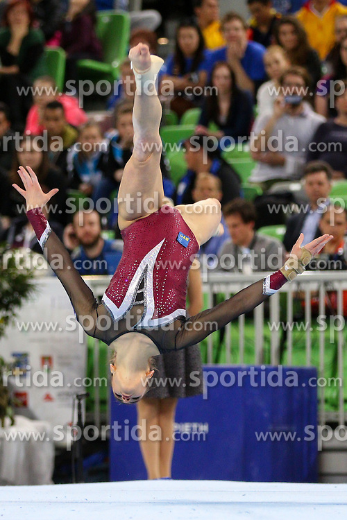 Sasa Golob of Slovenia competes in Floor Exercise during Final of Artistic Gymnastics World Challenge Cup Ljubljana, on April 5, 2015 in Arena Stozice, Ljubljana, Slovenia. Photo by Morgan Kristan / Sportida